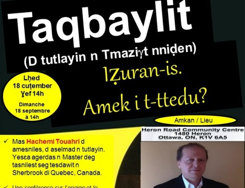 Taqbaylit et autres variantes de Tamazight